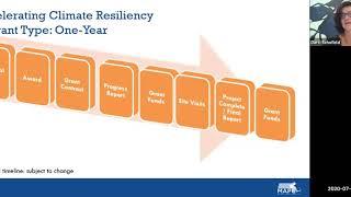 Webinar: FY21 Accelerating Climate Resiliency Grant Program