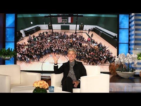 Ellen Surprises High