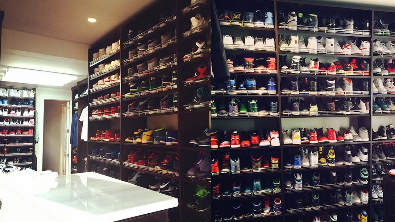 21d1069e6e8 Ray Allen's Insane Shoe Closet - YouTube