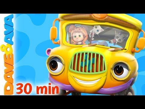 🚍 Wheels on the Bus and More Nursery Rhymes and Kids Songs   Dave and Ava 🚍