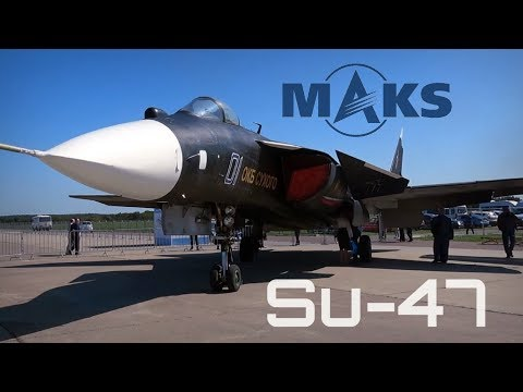 MAKS 2019 ✈️ Legendary Su-47 In Public Display For The 1st Time! - HD 50fps