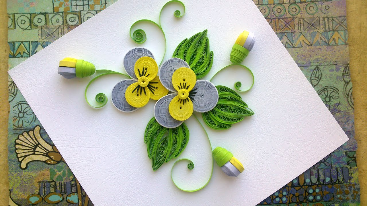 Quilling Paper Flower Tutorial Diy Quilling Paper Pansy Flower