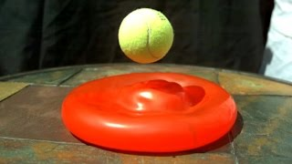 STACKED BALLS EXPERIMENT (Water Balloon Visualization in Slow Motion) - Slow Mo Lab