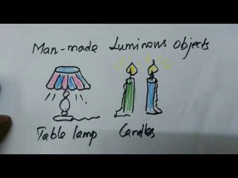 How to draw man made luminous objects...