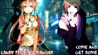nightcore candy from strangers switching vocals lyrics