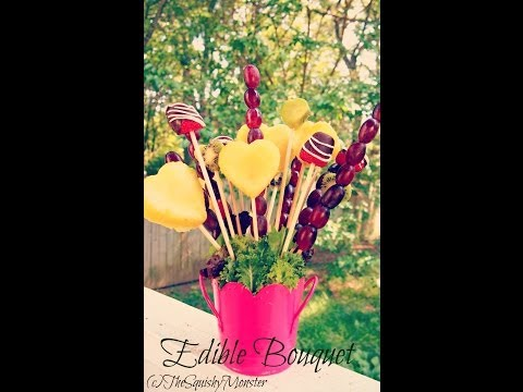 How to Make an Edible Fruit Bouquet /Arrangement