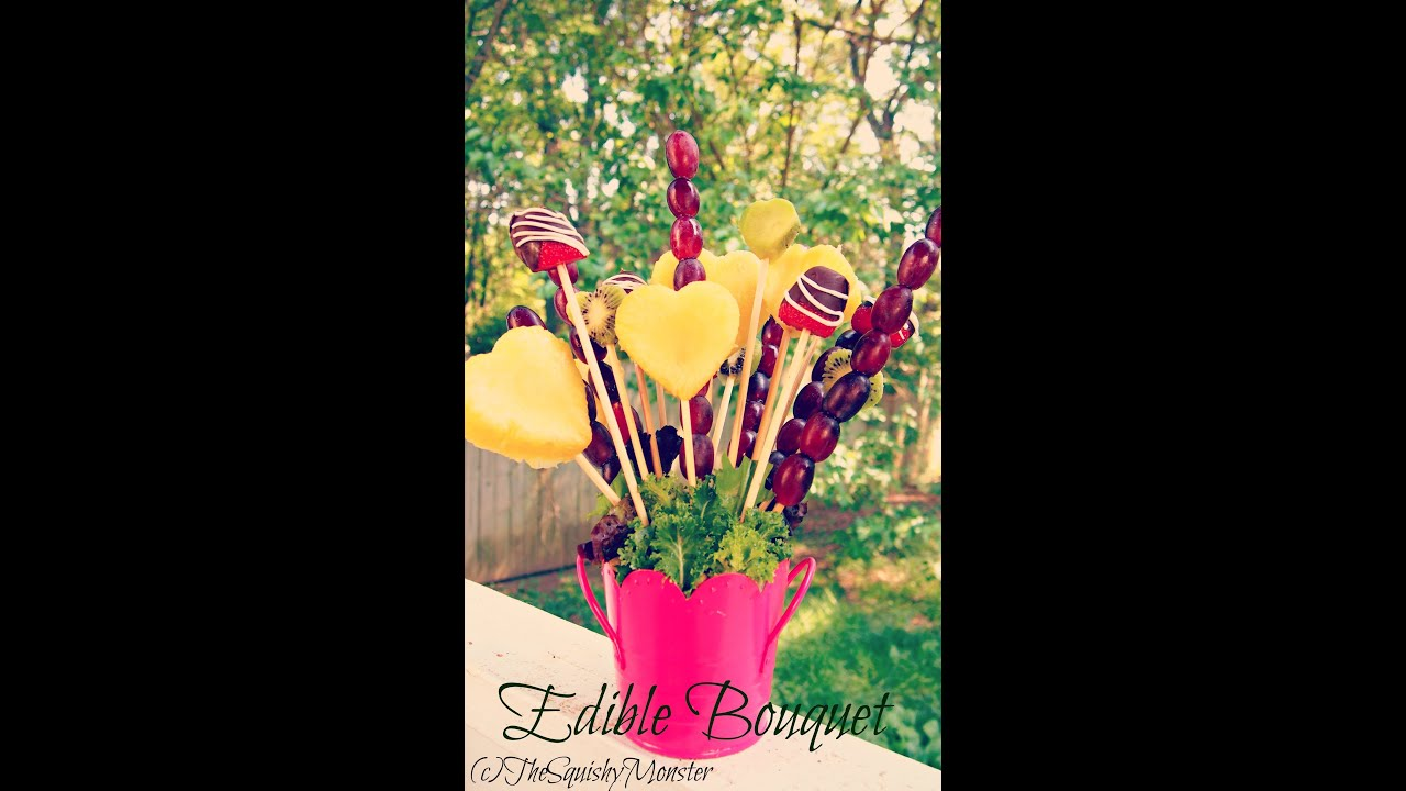 How to make an edible fruit bouquet arrangement youtube izmirmasajfo
