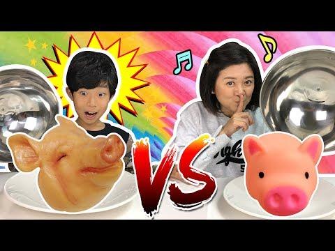 [실제음식 VS 피규어음식] 마이맘 님과 복불복 음식 뽑기 (여기서 돼지가 왜 나와? ㅠㅠ) Real Food VS Food Figure  헤이지니 참고   마이린 TV