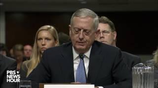 Sen. Claire McCaskill asks retired Marine Gen. James Mattis about women in combat roles
