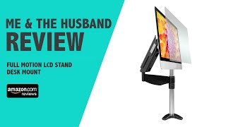 Me and the Husband Review Full Motion LCD Stand Desk Mount for 10''-27'' monitor