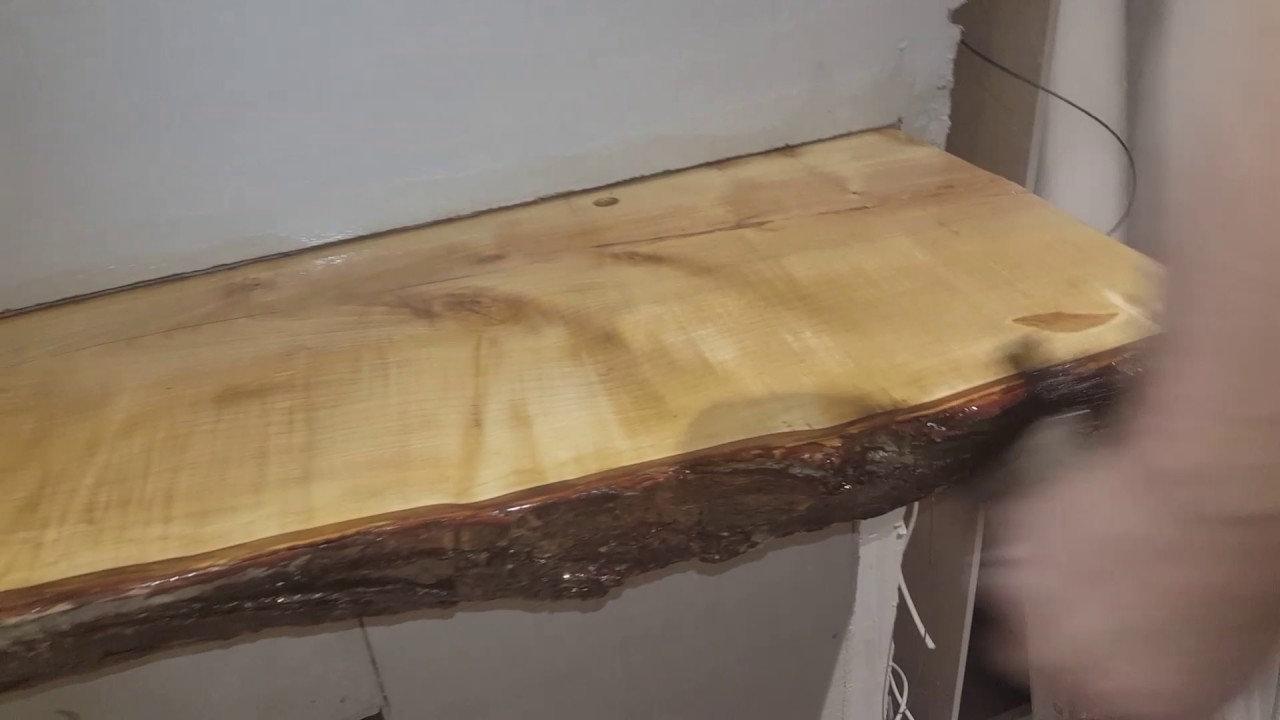 Silver Maple Live Edge Mantle Final Days Before Move In