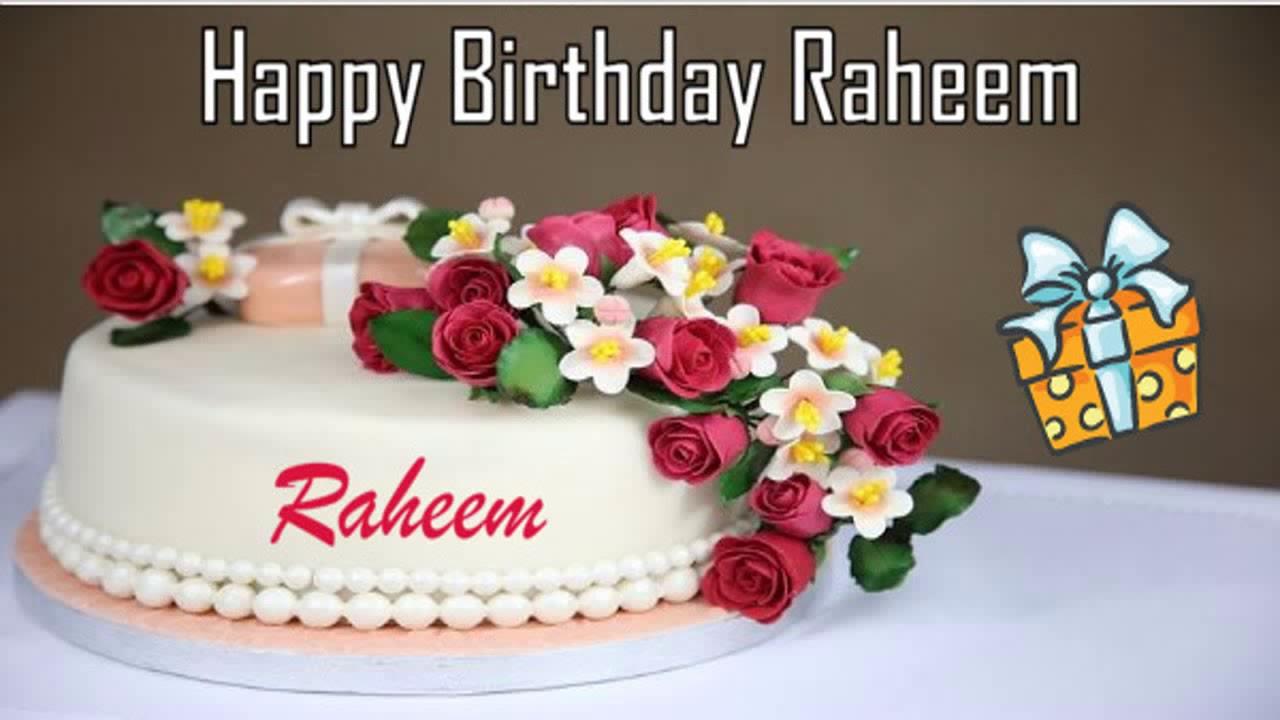 Birthday Cake With Name Qamar ~ Happy birthday raheem image wishes✓ youtube