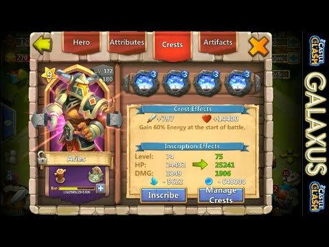 Castle Clash-Leveling Aries And Vlad Gets An Awesome Talent(Main)