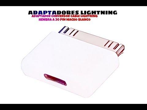 Video de Adaptador conversor cable lightning hembra a 30 pin macho  Blanco