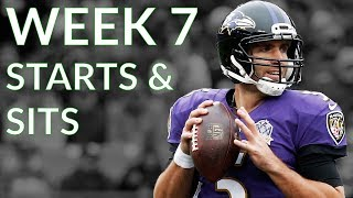 NFL Week 7 Fantasy Football Starts and Sits 2018
