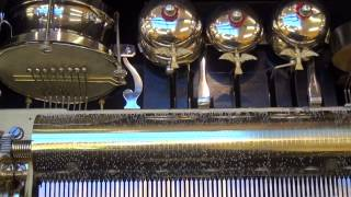 Antique Music Box: drum, bell and castanet by Paillard