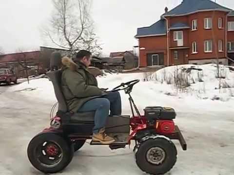 Трактор из мотоблока салют своими руками