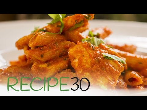 CHICKEN PENNE, TOMATO BASIL SAUCE - By RECIPE30.com