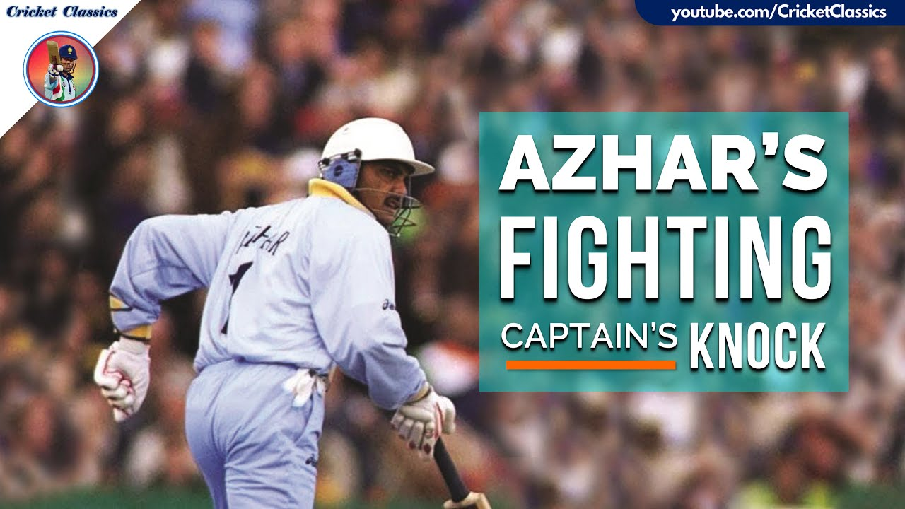 Azharuddin Fights Alone with a Gutsy 56 vs Mighty South Africa in Tough Run Chase | Titan Cup 1996