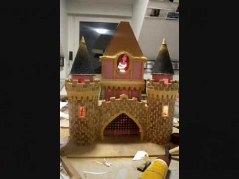 chateau disney maquette maison de poup e youtube. Black Bedroom Furniture Sets. Home Design Ideas
