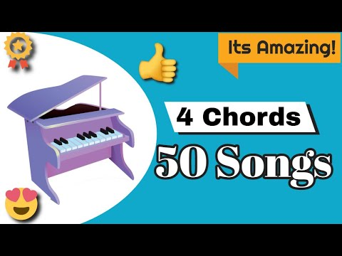 4 chords - 50 songs - Piano Lesson - Stynthesia - YouTube