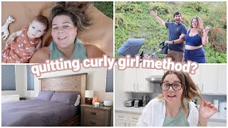 quitting the curly girl method (maybe?), new bedding, + family time!