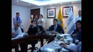 Presidente Correa celebra triunfo de Paraguay en octavos de final del mundial Sudafrica 2010