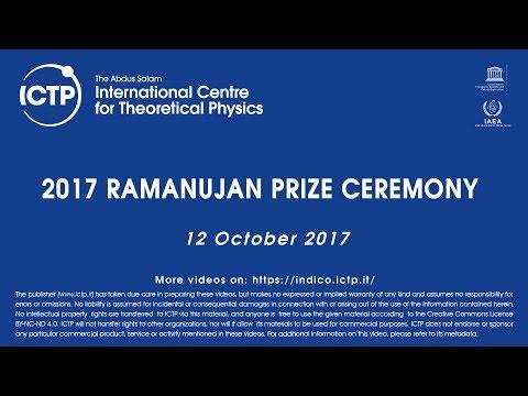 2017 Ramanujan Prize Ceremony