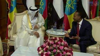محمد بن زايد ورئيس وزراء إثيوبيا يعقدان جلسة محادثات رسمية