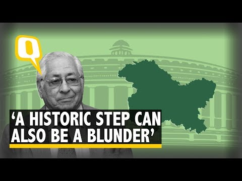'A Historic Step Can Also Be a Blunder': Soli Sorabjee on Revoking Article 370 | The Quint