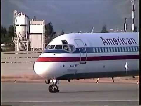 N901ra American Airlines Md 90 At San Jose Youtube