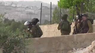 شبان فلسطينيون ينصبون كمينا للجنود الاسرائيليين في الضفة الغربية