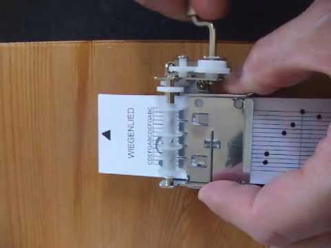 Wiegenlied (lullaby) on a 15 note DIY Music Box (Kikkerland musicbox)