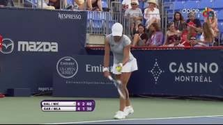 Monica Niculescu - Amazing backspin shot (2016 Rogers Cup Montreal)