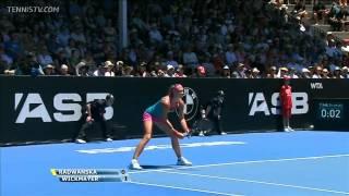 Wickmayer vs Radwanska FULL MATCH -  Final ASB Classic 2013 (PART1)