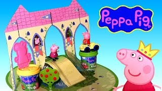 Princess Peppa Pig Castle Play Dough Playset - Make Princess Peppa George Dinosaur With Play Doh