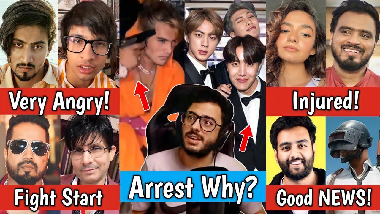Arrest Carryminati Trending & BTS | Tiktoker Arrested | Mr Faisu & Sourav Joshi | KRK kutta, Anushka