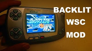 Backlight Mod for Wonderswan Color from China