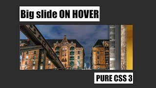 Big Image slide on Hover using Html 5 and css 3 || web tutorials