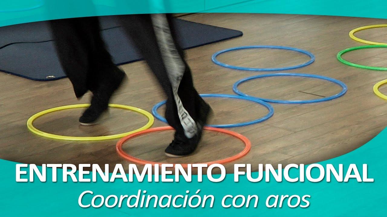 Entrenamiento funcional 7 coordinaci n con aros youtube for Entrenamiento funcional