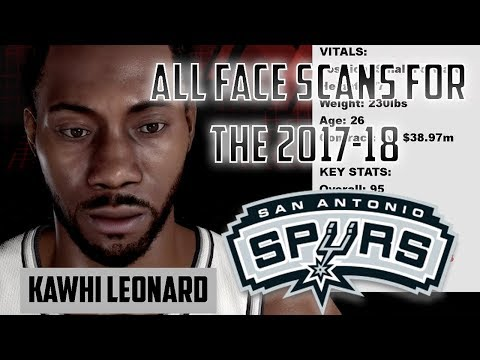 All 2017-18 San Antonio Spurs Face Scans for NBA 2K18