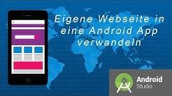 Wie nutze ich meine eigene Webseite als App? | Android Studio WebView | Android App | DavidsProTv