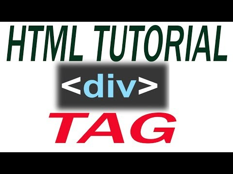 how to use div tag in html.
