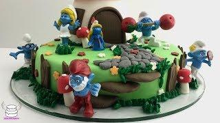 The Smurfs Village Cake