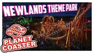 Newlands Theme Park - Schön beleuchtet + Feuerwerk | PARKTOUR - Planet Coaster