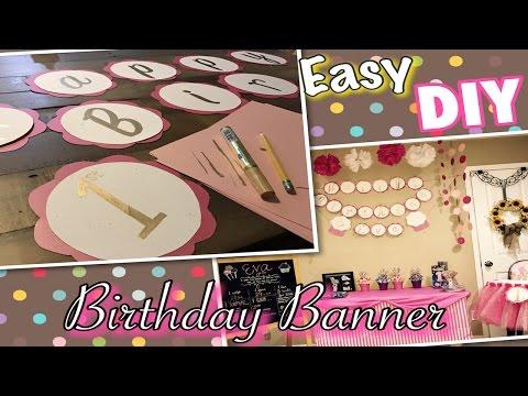 EASY DIY BIRTHDAY PARTY BANNER