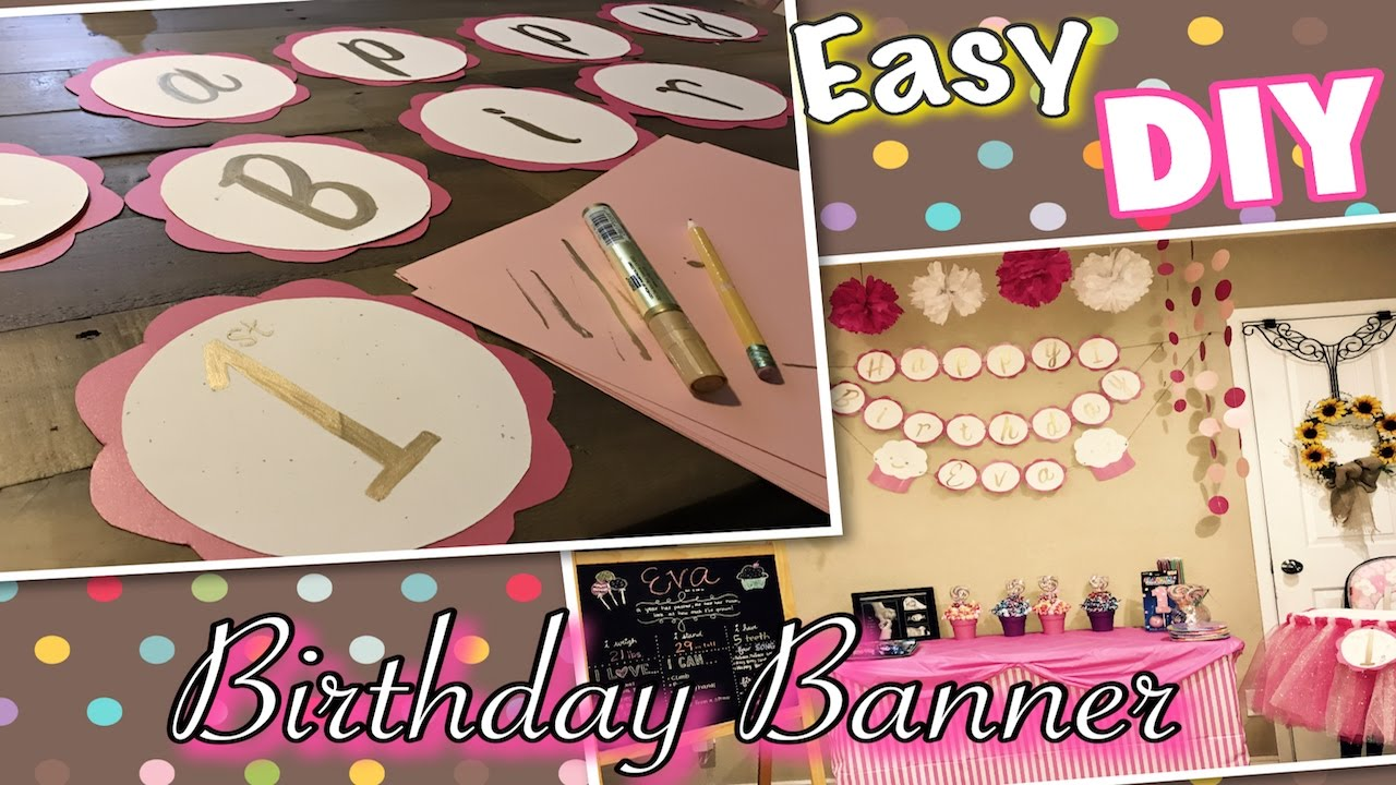 Easy Diy Birthday Party Banner Youtube