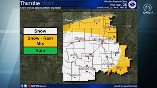 Oklahoma Weather Forecast: Jan. 2-3, 2019