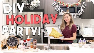 Holiday Party DIY! Food, Activities + Decor!!