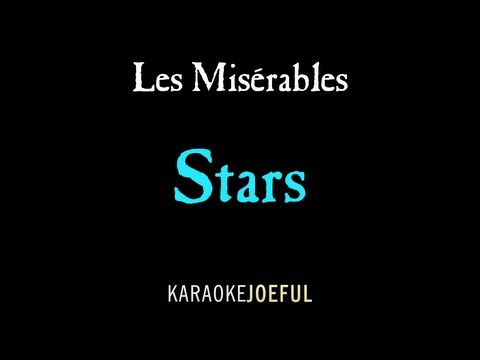 Stars Les Miserables Authentic Orchestral Karaoke Instrumental